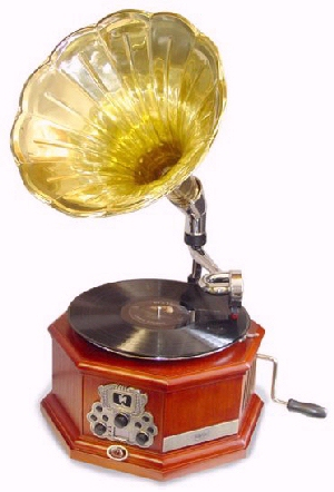 Vintage phonography gramophone record player