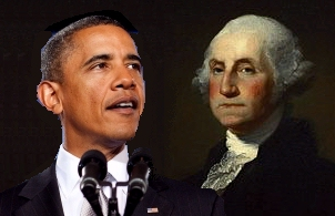 United States President Barack Obama and George Washington
