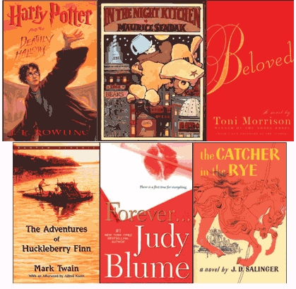 Banned Books Covers (from ALA)
