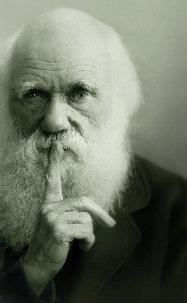 Charles Darwin says shh