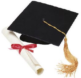College student cap and gown