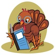 Turkey reading a book
