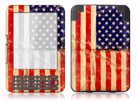 Kindle soldier custom American flag case mod vinyl protective skin design