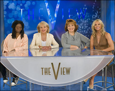 The cast of The View with Whoopi Goldberg