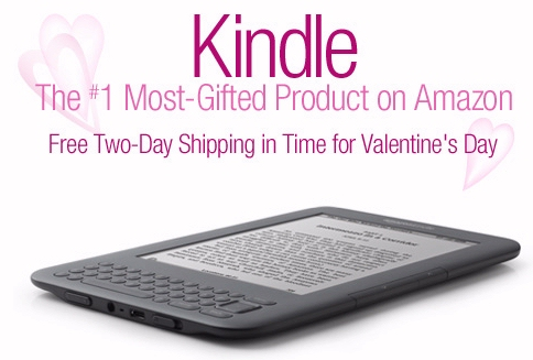 Amazon Kindle Valentine's Day free shipping ad