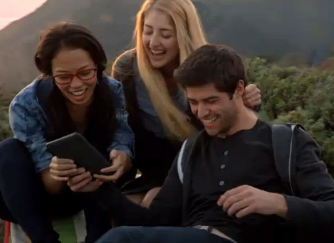 Screenshot from new Amazon Kindle TV ad - The Book Lives On