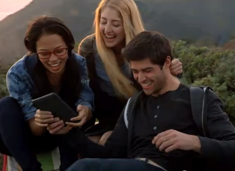 Screenshot from new Amazon Kindle television ad - The Book Lives On