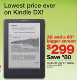 Staples Discount Sale Ad for Kindle DX