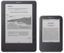 Kindle 3 versus a Kindle DX side-by-side