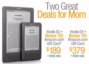 Amazon Kindle Mother's Day special