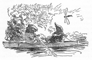 Wind and the Willows - Ratty and Mole on the river