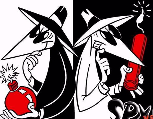 Amazon Kindle vs Barnes and Noble Nook Spy vs Spy cartoon