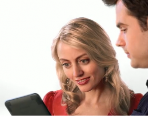 Girl and Boy from new Kindle bookstore commercial
