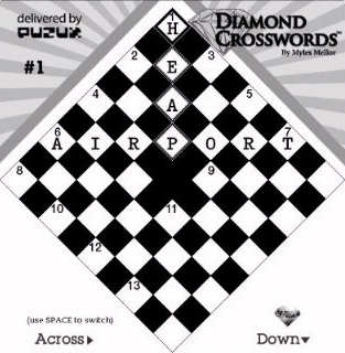 Kindle Diamond Crossword game screenshot