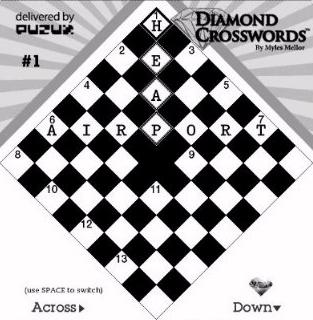 Kindle Diamond Crossword game screenshot
