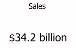 Amazon annual sales data for 2010