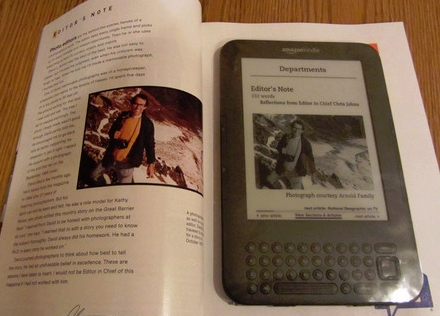 National Geographic magazine subscription on a Kindle screenshot