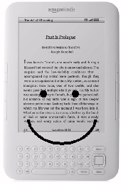 Smiling Kindle with a smile on its face