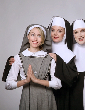Amy Rutberg plays a nun named Agnes in the play The Divine Sister
