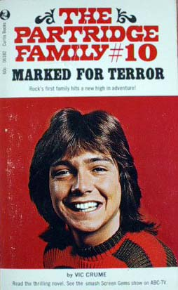 The Partridge Family Mystery book cover with David Cassidy