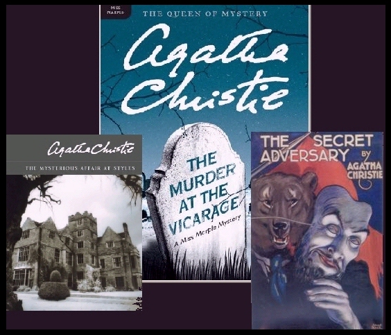 Agatha Christie mystery book covers