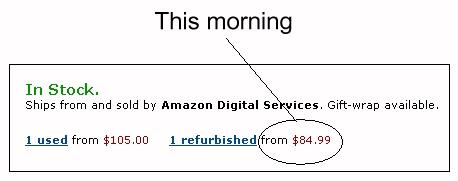 Amazon's 85 refurbished Kindle 3 sale