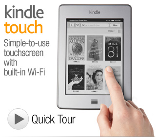 Amazon&#039;s new touchscreen Kindle Touch
