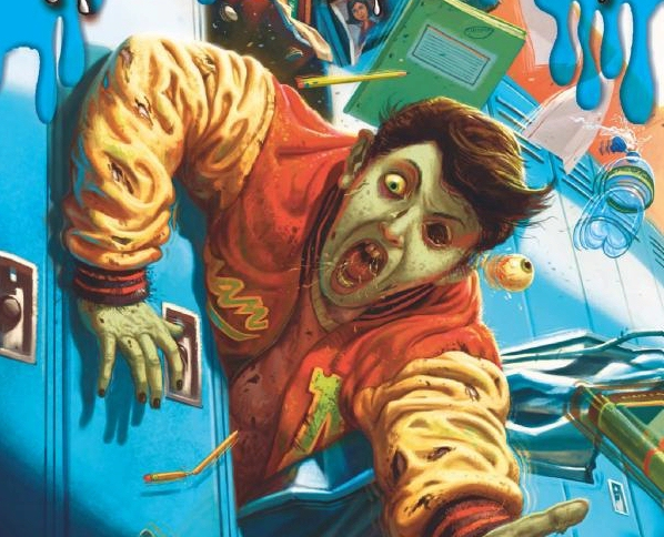 Cover illustration from R. L. Stine's Goosebumps zombie high school ebook