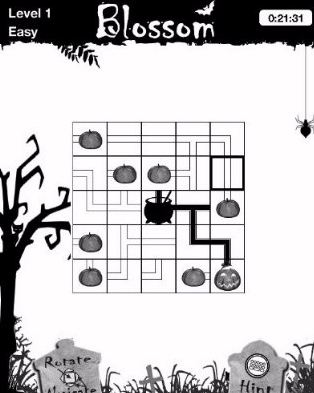Kindle game Blossom - Screenshot of Halloween edition