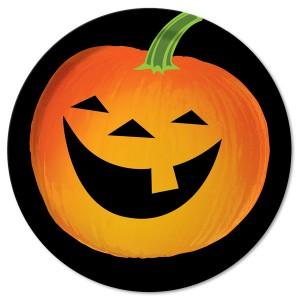 Laughing Halloween jack-o-lantern pumpkin cartoon