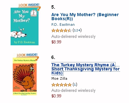 Amazon Children's ebook best-seller list