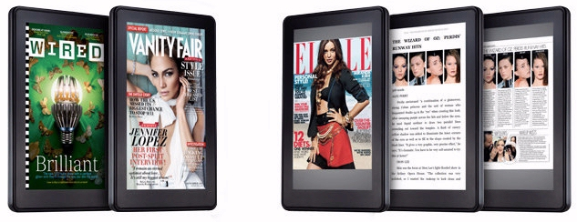 Magazine covers on the Amazon Kindle Fire tablet