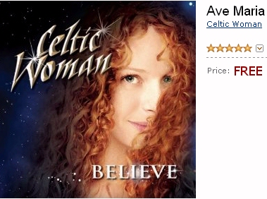 Celtic Woman Christmas song Ave Maria - Believe album cover