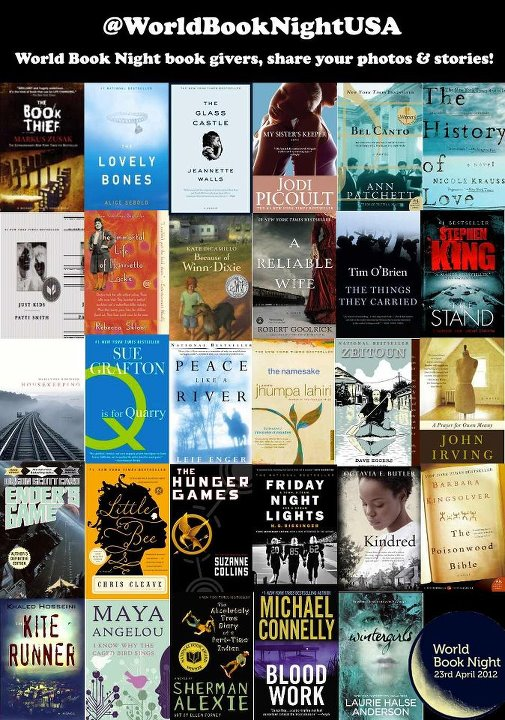 Montage of 30 books for World Book Night