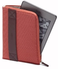An Amazon Kindle cover with zipper