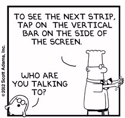 Dilbert and Dogbert explain Kindle Fire ebook