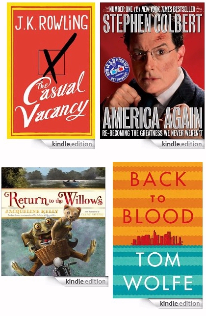 JK Rowlings, Stephen Colbert, and Tom Wolfe will release new books in 2012