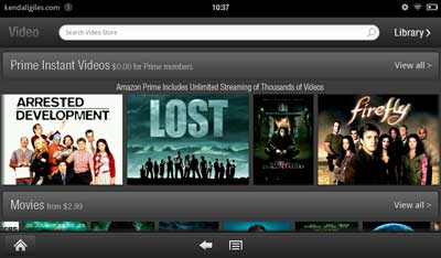 TV shows on Amazon Kindle Fire