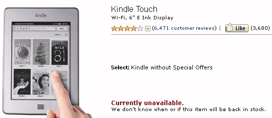 Did Amazon discontinue the Kindle Touch