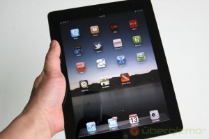 Apple iPad in a hand
