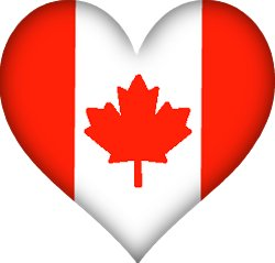 Flag of Canada in a love heart