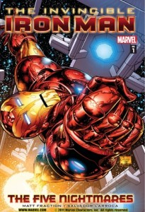 Tony Stark, the Invincible Iron Man Marvel comic book cover