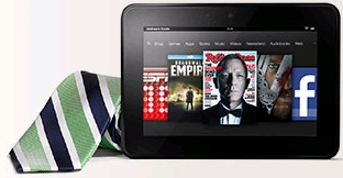 Father's Day Kindle Fire HD and tie as a gift