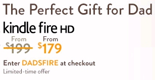 Father's Day Kindle Fire HD discount