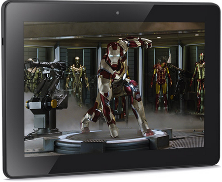 Kindle Fire HDX shows Iron Man