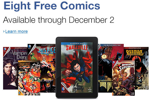 Eight Free Kindle D.C. Comic books