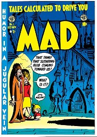 The cover of the first issue of Mad Magazine