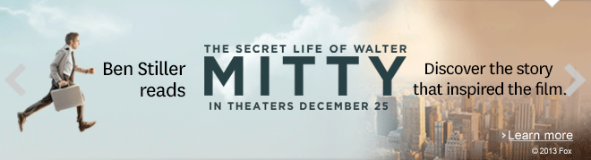 Ben Stiller reads The Secret Life of Walter Mitty in a free audiobook