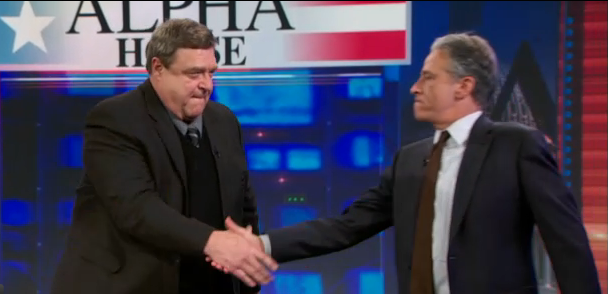 John Goodman represents Amazon on The Daily Show with Jon Stewart