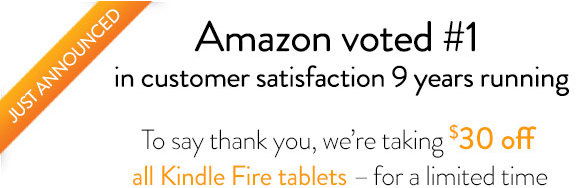 Amazon voted #1 in customer satisfaction